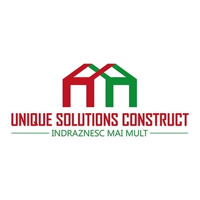 Design logo firma constructii - Unique Solutions Construct