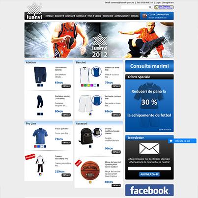 Design site web vanzari online articole sportive  - Sport Expert