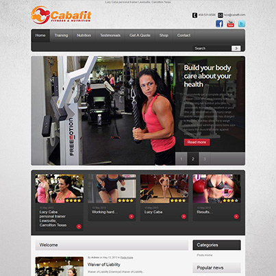 Creare site web prezentare antrenor fitness