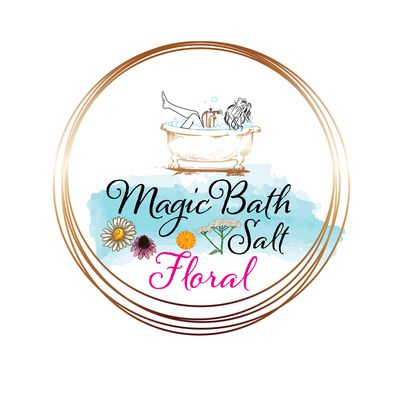 Design eticheta sare de baie - Magic Bath Salt Floral