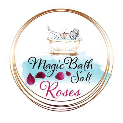 Design eticheta sare de baie trandafiri - Magic Bath Salt Roses