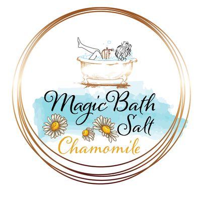 Design eticheta sare de baie musetel - Magic Bath Salt Chamomile
