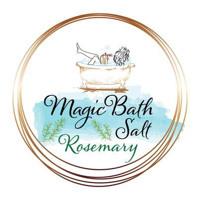Design eticheta sare de baie rozmarin - Magic Bath Salt Rosemary