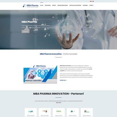 Design site web de prezentare companie farmaceutica - MBA Pharma
