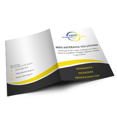 Design brosura  companie asigurari - MDS Interasig Solutions