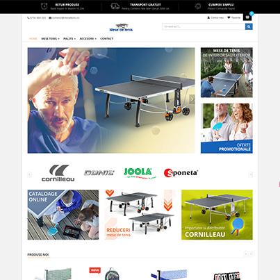 Realizare site web vanzari online accesorii si mese pentru tenisul de masa - mesetenis.ro