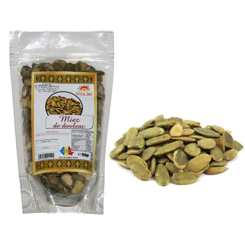 Design eticheta comerciant miez seminte dovleac - Vita Sol