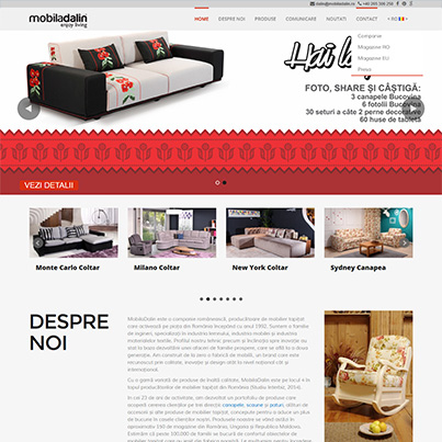Design site web de prezentare producator mobilier - Mobila Dalin