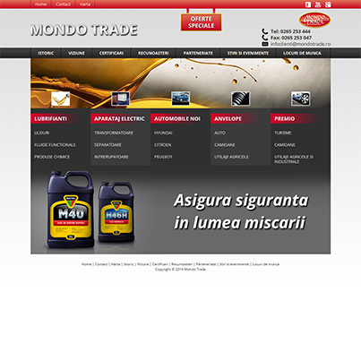 Design site ecommerce Mondotrade