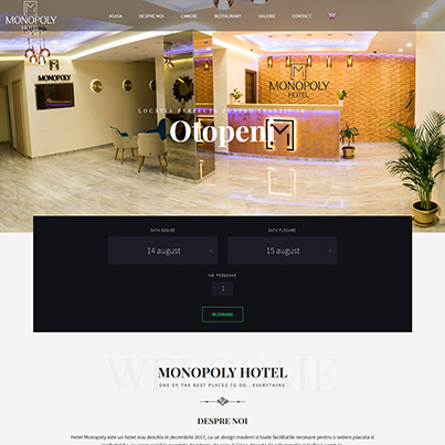Design site web de prezentare hotel - Monopoly
