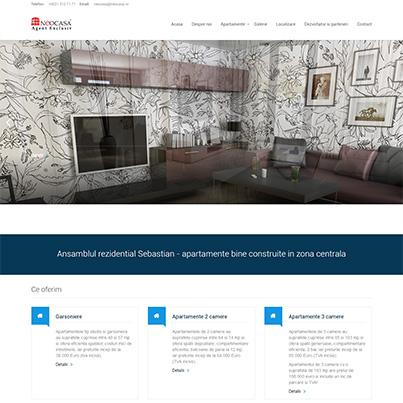 Creare site web de prezentare agentia imobiliara Neocasa
