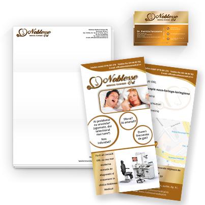 Design identitate companie centru medical ORL - Noblesse Clinique