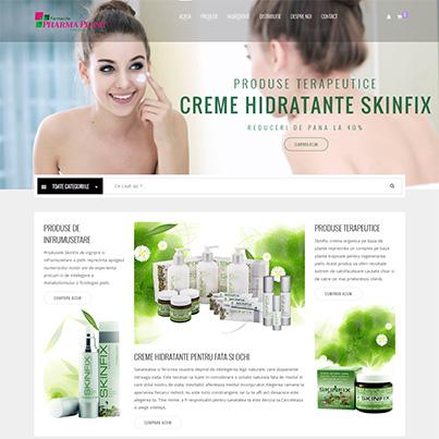 Design site web vanzari online produse infrumusetare si terapeutice - Onfarm