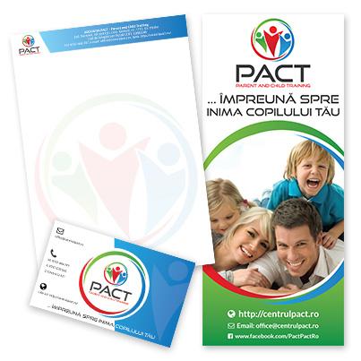 Design identitate companie asociatie de sprijin si training parental pentru familii rome - Centrul Pact