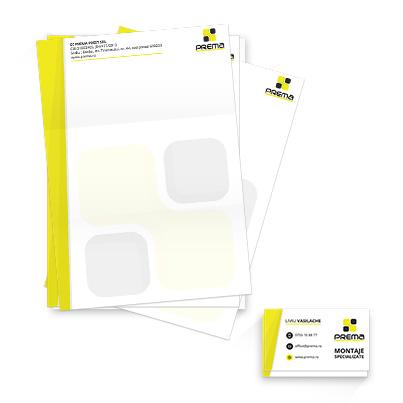 Design identitate companie Prema - montaje specializate structuri din sticla si usi sectionate