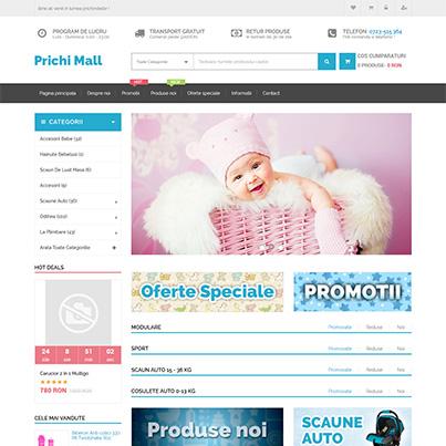 Realizare site web vanzari online articole copii - Prichi Mall