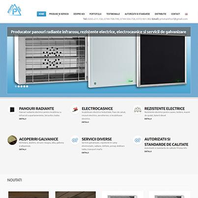 Creare site web prezentare, firma producatoare panouri radiante