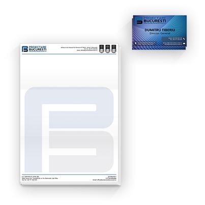 Design identitate companie firma proiectare constructii - Proiectare Bucuresti