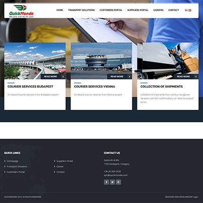 Creare site web de prezentare companie transport aerian international - Quick Monde