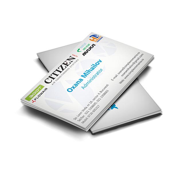 Ralizare carti de vizita distribuitor Simplex