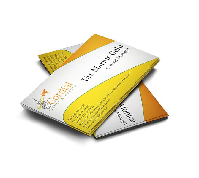 Realizare carte de vizita agentie de turism Cordial Travel and Events