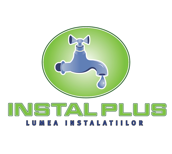 Realizare sigla firma instalatii sanitare Instalplus