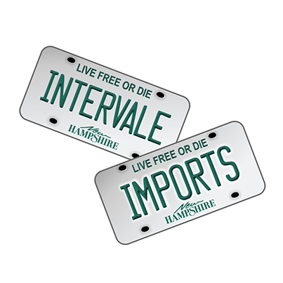 Realizare sigla parc auto, showroom Intervale Imports