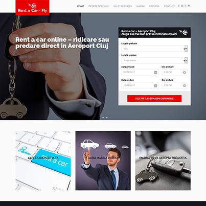 Rent a car Aeroport Cluj - realizare site web rent a car pentru Rentacar Fly