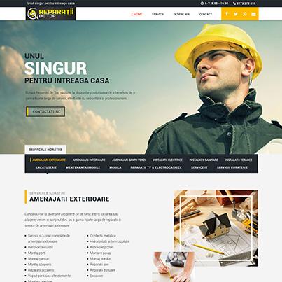 Creare site web de prezentare furnizor servicii de reparatii si amenajari interioare si exterioare - Reparatii De Top