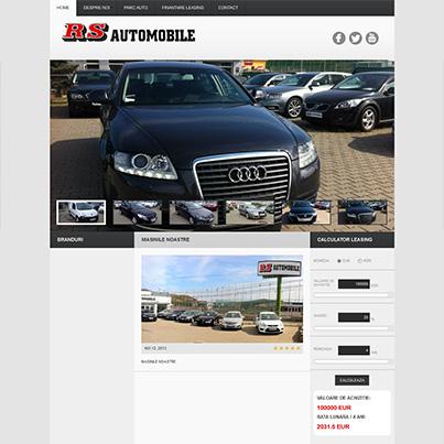 Design site web prezentare parc auto