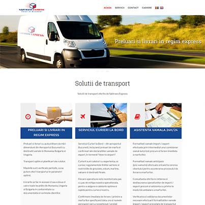 Realizare site web de prezentare firma curierat - Sabtrans