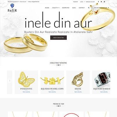 Creare site ecommerce bijuterie - Safir