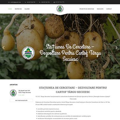 Design site web de prezentare centru de cercetare agricol - SCDC Targu Secuiesc
