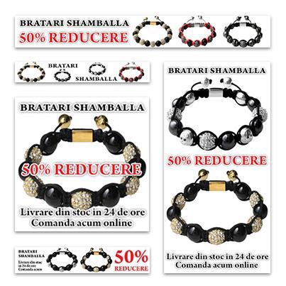 Design banner publicitar magazin online bijuterii - www.bratari-shamballa.ro