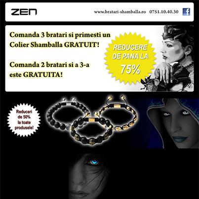 Design newsletter magazin e-commerce bijuterii shamballa - www.bratari-shamballa.ro