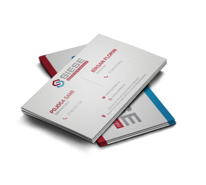 Design carte de vizita producator materiale constructii - Siese