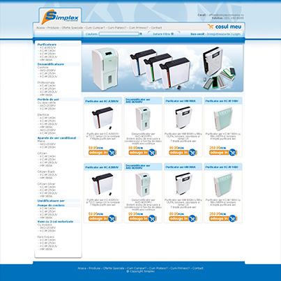 Design  website comert online echipamente climatizare si ventilatie Simplex