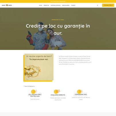 Design site web de prezentare amanet - Sabion Amanet