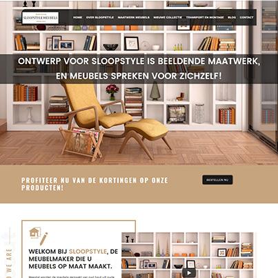 Design site web de prezentare producator mobilier - SloopStyle