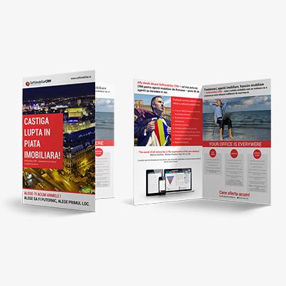 Design brosura SoftImobiliar CRM