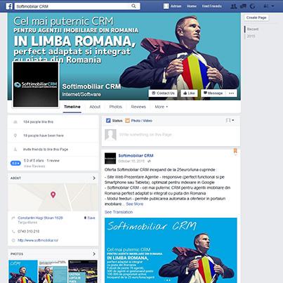 Design pagina facebook CRM agentii imobiliare SoftImobiliar CRM