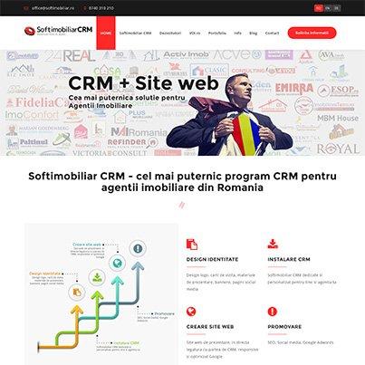 Design site web prezentare platforma gestiune agentii imobiliare- Softimobiliar CRM