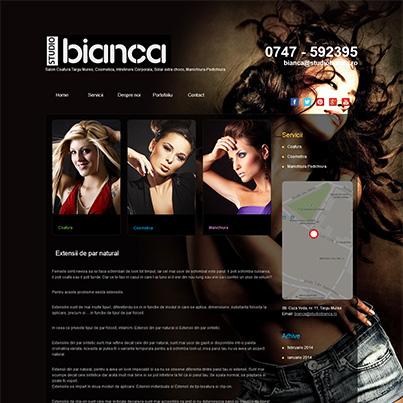 Design site web salon coafura, cosmetica, manichiura - Studio Bianca