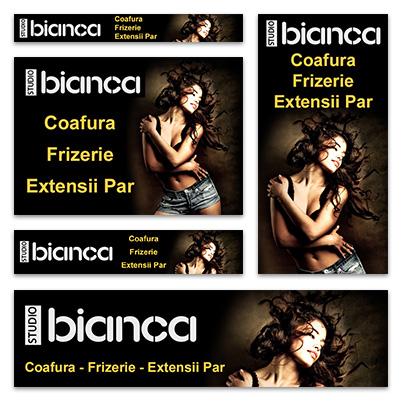 Design banner publicitar salon coafura - Studio Bianca