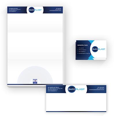 Design identitate vizuala companie servicii de sudura tevi polietilena - Sudoplast