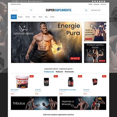 Design site web magazin online nutritie si suplimente alimentare sportivi - Super Suplimente