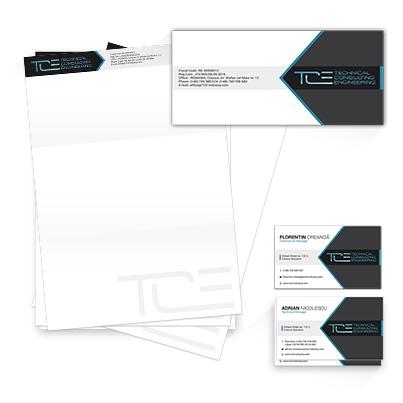 Design identitate companie consultanta tehnica activitati de arhitectura si inginerie - Technical Consulting Engineering