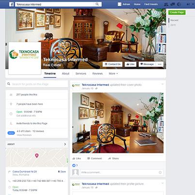 Design pagina facebook agentia imobiliara TeknoCasa