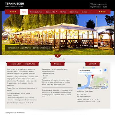 Creare site web prezentare si comanda online restaurant Terasa Eden