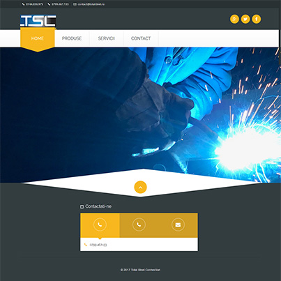 Design site web de prezentare producator structuri metalice, produse metal si fier forjat - Total Steel Conection